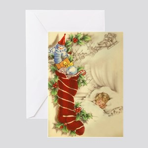 vintage style christmas greeting cards pk of 20 - Vintage Christmas Gifts
