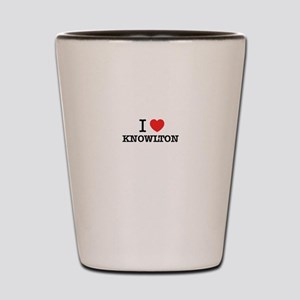I Love KNOWLTON Shot Glass