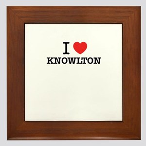 I Love KNOWLTON Framed Tile