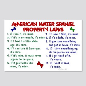 American Water Spaniel Property Laws 2 Postcards (