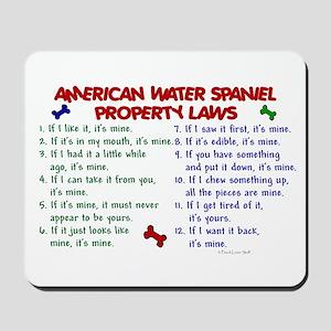 American Water Spaniel Property Laws 2 Mousepad