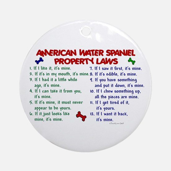 American Water Spaniel Property Laws 2 Ornament (R