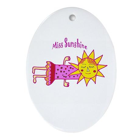 Miss Sunshine Oval Ornament