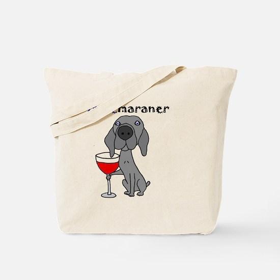 Unique Weimaraner Tote Bag