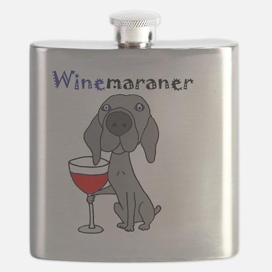 Cute Weimaraner wine Flask