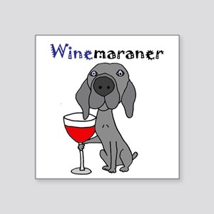 Weimaraner with Wine Sticker