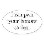 Pwn Oval Sticker