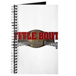 Title Bout Championship Boxing Logo Journal