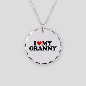I LOVE MY GRANNY Necklace Circle Charm