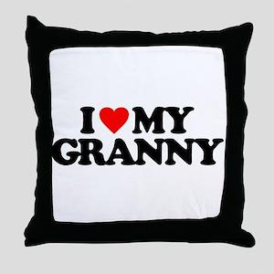 I LOVE MY GRANNY Throw Pillow