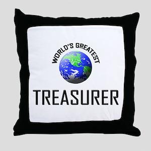 World's Greatest TREASURER Throw Pillow
