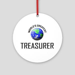 World's Greatest TREASURER Ornament (Round)