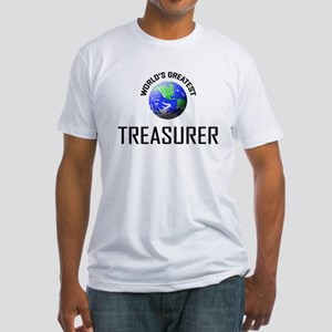World's Greatest TREASURER Fitted T-Shirt