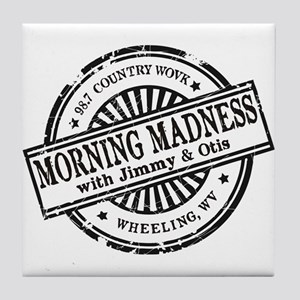 Logo for Morning Madness with Jimmy & Tile Coaster