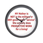 Working Mother Wall Clock