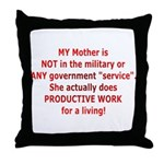 Working Mother Throw Pillow