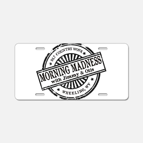 Logo for Morning Madness wi Aluminum License Plate