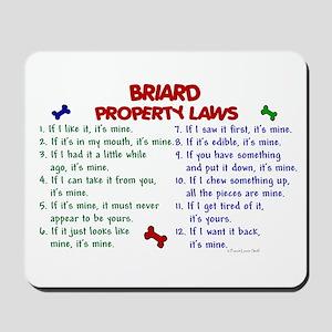 Briard Property Laws 2 Mousepad