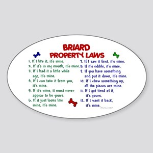 Briard Property Laws 2 Oval Sticker