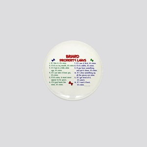 Briard Property Laws 2 Mini Button