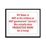 Working Sister Framed Panel Print