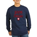 100% Swiss Long Sleeve Dark T-Shirt