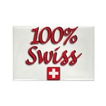 100% Swiss Rectangle Magnet (10 pack)