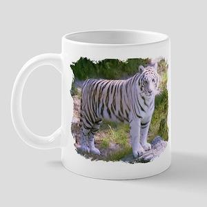 Standing White Tiger Mug