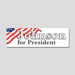 Johnson For President Car Magnet 10 x 3