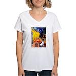 Cafe / Smooth T (#1) Women's V-Neck T-Shirt