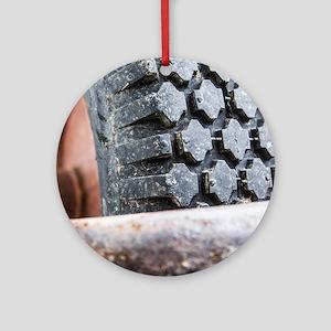 Tire Round Ornament