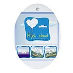 High Cloud Oval Ornament