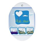 High Cloud Oval Ornament
