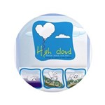 "High Cloud 3.5"" Button (100 pack)"
