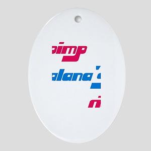 Pimp Alana's Ride Oval Ornament