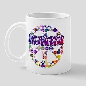 Vintage Peace Sign RETRO Mug