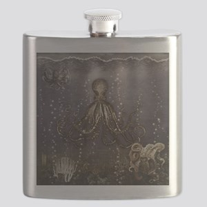 Octopus' lair - Old Photo Flask