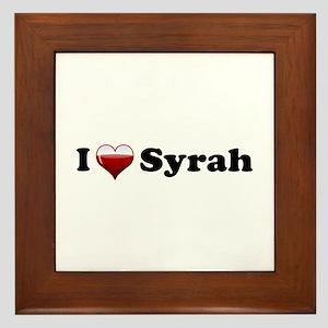 I Love Syrah Framed Tile
