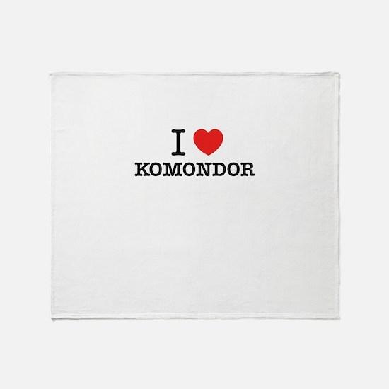 I Love KOMONDOR Throw Blanket