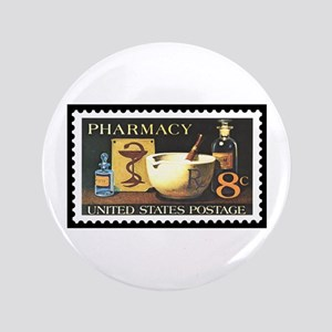 "Pharmacist Stamp Collecting 3.5"" Button"