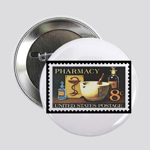 "Pharmacist Stamp Collecting 2.25"" Button"