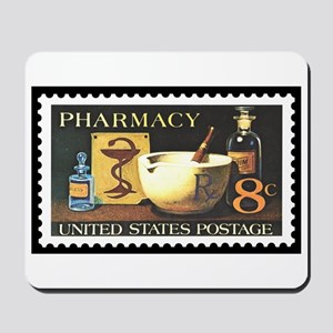 Pharmacist Stamp Collecting Mousepad