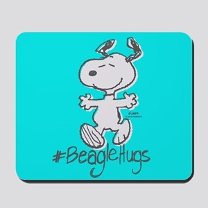 Snoopy Beagle Hugs Full Bleeds Mousepad