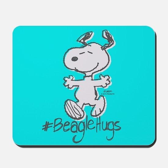 Snoopy Beagle Hugs Full Bleeds Mousepad