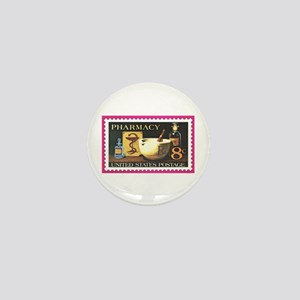 Pharmacist Stamp Collecting Mini Button