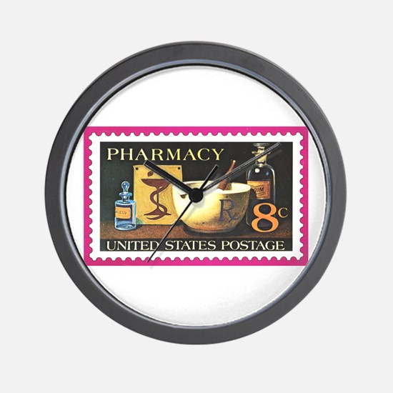 Pharmacist Stamp Collecting Wall Clock