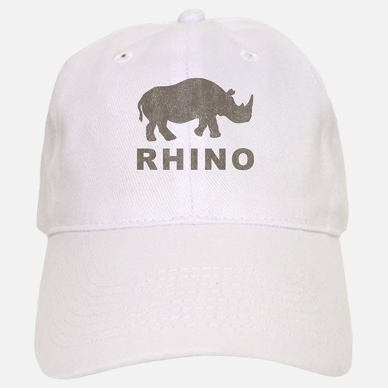 Vintage Rhino Baseball Baseball Cap