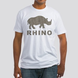 Vintage Rhino Fitted T-Shirt