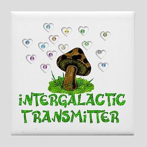 Alien Shrooms Tile Coaster