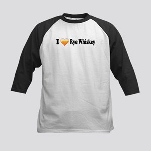 I Love Rye Whiskey Kids Baseball Jersey
